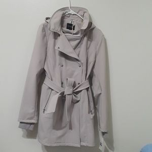 Jessica Simpson silver Trench coat